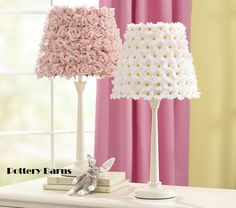 I love these! I'm gonna do this lampshade in my daughter's shabby chic bedroom!