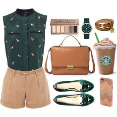 Saturday Coffee with Friends by sweetpastelady on Polyvore featuring Sea, New York, Oasis, Charlotte Olympia, FOSSIL, Mulberry, MARC BY MARC JACOBS and Urban Decay