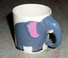 Vintage Cup Elephant Plastic Zoo Animals Child's by TheBackShak
