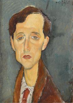 Artist: Amedeo Modigliani Title: Frans Hellens