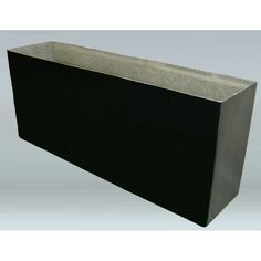 Allied Molded Products Rimless Rectangular Planter Box Size: H x W x D, Color: Pure White Rectangular Planter Box, Planter Box With Trellis, Wood Planter Box, Wood Planters, Modern Planters, Pottery Pots, Corten Steel Planters, Plastic Planter Boxes, Fiberglass Planters