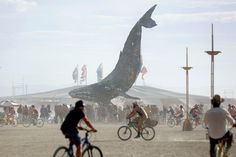 The Burning Man - The Space Whale art installation on August 29, 2016.