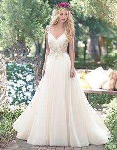@Bellethemagazine wedding dresses | Maggie Sottero Spring 2016 | Floor Ivory A-Line V-Neck $$ ($1,001-2,000)