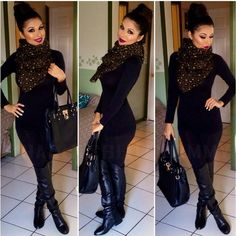 This is how you pull off a casual but sexy all black outfit! Mode Outfits, Casual Outfits, Fashion Outfits, Womens Fashion, Fashion Trends, Fashion Ideas, Flannel Outfits, Black Outfits, Casual Wear