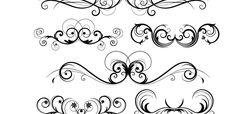 Ornamentos decorativos vectorizados en png - Imagui