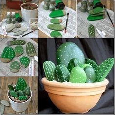 DIY Rock Cactus Garden