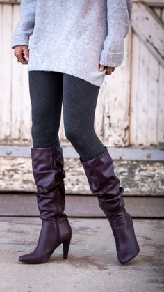 On-trend, tall slouchy boot by designer Christian Siriano. Elite Clothing, Slouchy Boots, Christian Siriano, Riding Boots, Spring Fashion, Celebrities, Clothes, Collection, Shoes