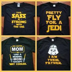 Disney Star Wars Inspired Matching Family T shirt Kylo Ren Yoda Jedi Darth Vader Dad The Sass is Strong Pretty Fly for a Jedi - Family Shirts - Ideas of Family Shirts - image 0 Disney Vacation Shirts, Disney Shirts For Family, Disney Vacations, Disney Trips, Funny Disney Shirts, Disney Cruise, Walt Disney, Disney Tickets, Disneyland Trip