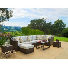 Corvus Matura 10-piece Hand-woven Wicker Patio Sectional Set - Overstock Shopping - Big Discounts on Corvus Sofas, Chairs & Sectionals