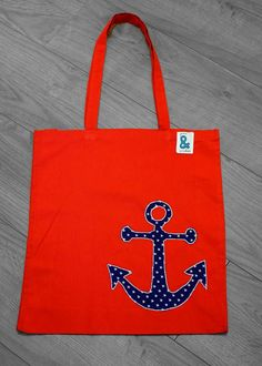Check out this item in my Etsy shop https://www.etsy.com/listing/228752847/red-cotton-bag-with-appliqued-anchor