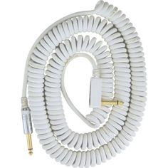Vox Premium Vintage Coiled Guitar Cable 9m - White