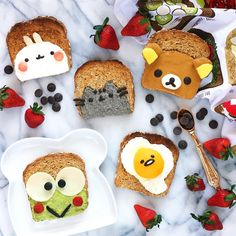 Cute toast art by Jessica  (@luxeandthelady)