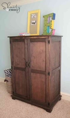 Pottery Barn Inspired Armoire Free Plans - Hobbies paining body for kids and adult