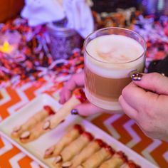 Good through the last bite. #Halloween #dolcegusto #FingerLickingGood #WitchFinger For the cookie - make your favorite sugar cookie into a witch finger, add jelly and an almond!