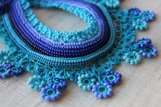 ao with <3 / beads crochet necklace
