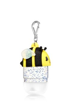 Bee - PocketBac Holder - Bath & Body Works - Clean hands are the bee's knees with this glittery accent for your favorite PocketBac. The convenient clip attaches to your backpack, purse and more so you can always keep your sanitizer close at hand.