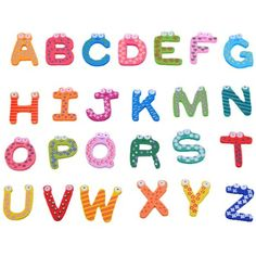 A-Z Letters Wooden Fridge Magnets Baby Educational Set * Visit the image link more details. (This is an affiliate link and I receive a commission for the sales) #LearningEducation