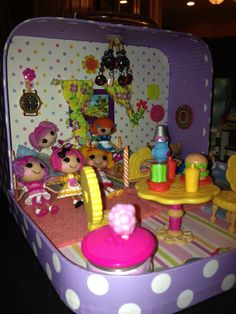 Lalaloopsy House made from a mini suitcase