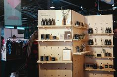 Full Booth with peg board shelving at the Austin Holiday Market.