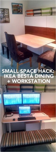 BESTÅ Hidden Office/ Dining Bench - IKEA Hackers - IKEA Hackers
