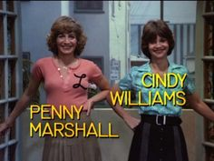 Penny Marshall Actress Comedian Director Laverne and Shirley Penny Marshall, Cindy Williams, Grease Costumes, Laverne & Shirley, 1970s Tv Shows, Catherine Bach, Fact Families, Moving To California, Great Tv Shows