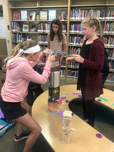 Jenga for school library orientation! School Library Lessons, School Library Displays, School Library Design, Middle School Libraries, Library Skills, Elementary Library, Library Lesson Plans, Library Games, Teen Library