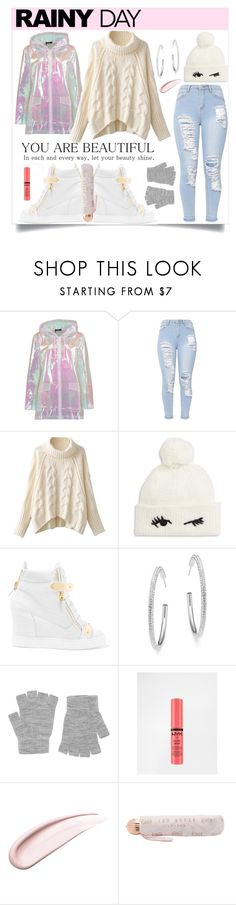 """""""Rainy Day"""" by soniaxfall ❤ liked on Polyvore featuring Boohoo, Kate Spade, Giuseppe Zanotti, Adriana Orsini, Accessorize, NYX, Koh Gen Do and Ted Baker"""