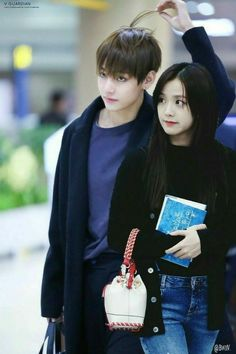 For the TaeSoo shippers out there! Bts Blackpink, Bts Taehyung, Ulzzang Couple, Ulzzang Girl, Cute Couples Goals, Couple Goals, All About Kpop, Romantic Manga, Blackpink Memes