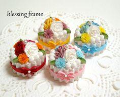 blessing frameのくいりんぐノート:お花のミニケーキ(4色)