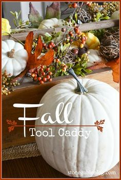 What do you do with leftover fall decorations? Make a Fall Vignette... FABULOUS for THANKSGIVING!
