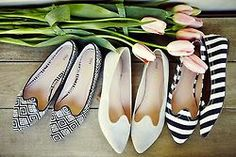 You can never have enough black and white shoes!