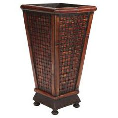 @Overstock - Decorative Planter - Colors: BrownMaterials: Wood, bamboo Dress up any plant    http://www.overstock.com/Home-Garden/Decorative-Planter/6274963/product.html?CID=214117  $42.04