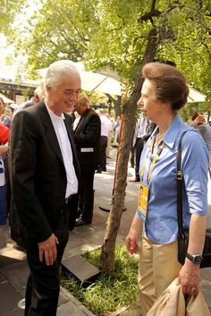 Jimmy Page with Princess Anne. Photo: Ross Halfin
