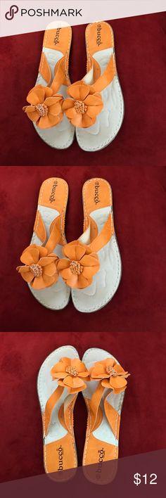Woman's sandals flip flop slides Woman's flip flop sandal worn once great condition size10 bucco Shoes Sandals
