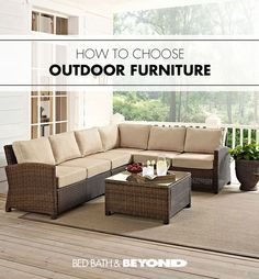 Crosley Bradenton Outdoor Wicker Sectional Seating Set with Sand Cushions - image 7 of 10 Outdoor Spaces, Outdoor Living, Outdoor Decor, Outdoor Tables, Outdoor Pool, Home Furniture, Outdoor Furniture Sets, Rustic Furniture, Antique Furniture
