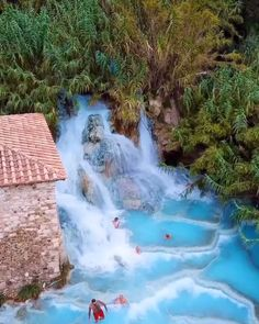 Italian baths in Tuscany, Italy. Where are you go on vacation? place to travel vacation holidays to go places summer Italian Baths Vacation Places, Italy Vacation, Dream Vacations, Vacation Spots, Vacation Food, Vacation Packing, Vacation Outfits, Italy Travel, Vacation Nails