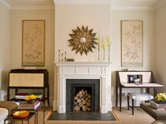 Image result for fake fireplace mantels
