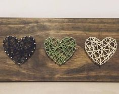 Items similar to 3 Hearts on Etsy White Acrylic Paint, Using Acrylic Paint, Diy And Crafts, Crafts For Kids, Arts And Crafts, Texture Painting On Canvas, Wooden Easel, Barn Wood Signs, Pink Paper