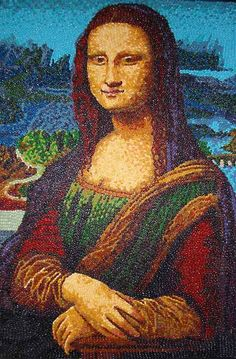 The Mona Lisa reconstructed from thousands of jellybeans.  I don't even like jelly beans.