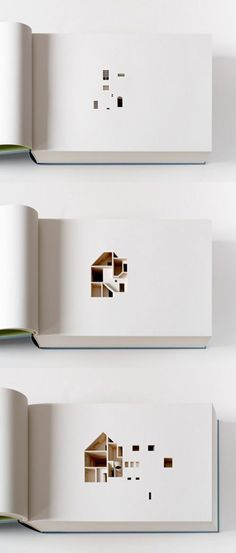 This is an architecture book with more descriptive power than words alone could possible achieve. The book consists of 454 pages each laser-cut to produce a section representing 2.2cm of the artists actual house in Copenhagen, Denmark.: