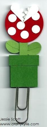 Stampin' Up! Punch Art Mario Bros - Piranha Flower by cards by Kylie-Jo - Cards and Paper Crafts at Splitcoaststampers