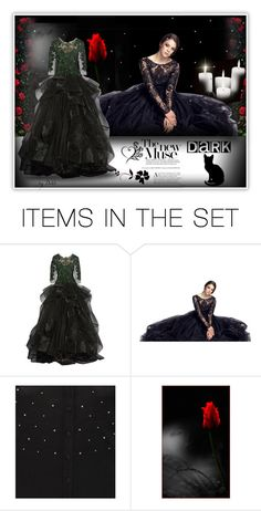 """""""DARK"""" by dehti ❤ liked on Polyvore featuring art"""