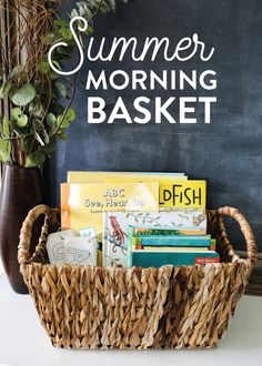 Morning Basket is a great rhythm to incorporate into your family morning routine. Get inspired with our Summer Morning Basket + easily plan out your own morning basket by downloading the FREE printable planning sheet.