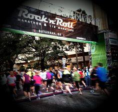 Starting line of the Rock 'n' Roll Marathon & 1/2 Marathon