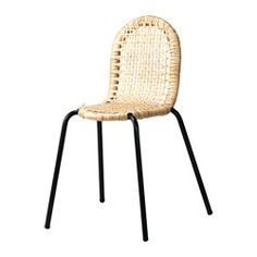 IKEA - VIKTIGT, Chair, This chair is a slightly smaller model, perfect if you're short on space.You can stack the chairs, so they take less space when you're not using them.Furniture made of natural fiber is lightweight but also sturdy and durable.