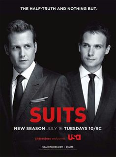 USA Network Original Series - Suits stars Patrick J. Adams as Michael Mike Ross and Gabriel Macht as Harvey Specter working at a law firm in NYC. Serie Suits, Suits Tv Series, Suits Tv Shows, Series Movies, Tv Shows 2013, Best Tv Shows, Favorite Tv Shows, Favorite Things, Suits Usa