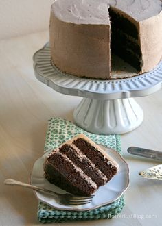 Triple Layer Chocolate Cake with Chocolate Whipped Cream Frosting