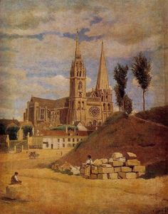 Chartres Cathedral - Camille Corot - WikiArt.org