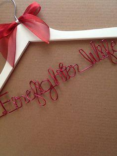 Firefighter Wife Wedding Dress Hanger...Great Gift...Bridesmaid, Shower, Flower Girls on Etsy, $10.00