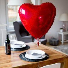 Heliumbefüllter Herzballon